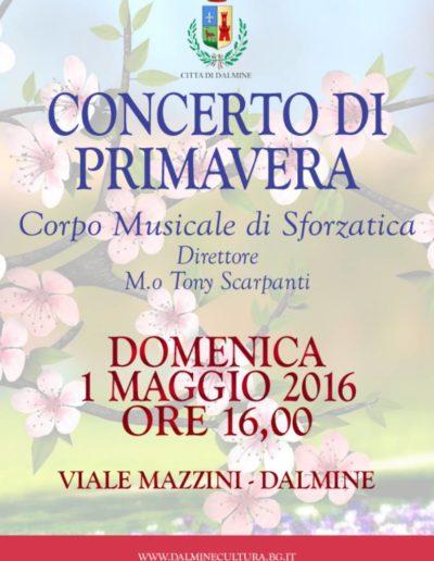 Concerto di Primavera 1 maggio 2016 ore 16:00