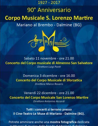 90° Corpo Musicale di Mariano 3 dicembre 2017 ore 16:00