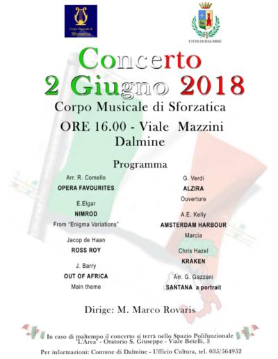 Concerto 2 Giugno 2018 ore 16:00 a Dalmine